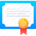 certificate, diploma, school, study icon