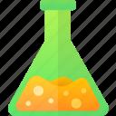 education, flask, liquid, school icon