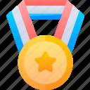 education, gold, medal, winner icon