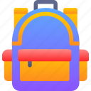 bag, book, education, school icon