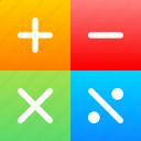 education, math, mathematic, school icon