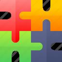 education, game, puzzle, school icon