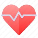 heart, heartbeat, love, organ icon