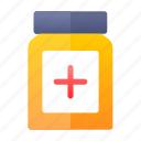 bottle, hospital, medicine, pills icon