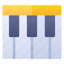 education, music, piano, school icon
