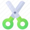 creativity, education, scissors, tool icon