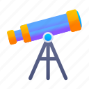 astronomy, education, star, telescope icon