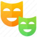 drama, education, mask, theater icon