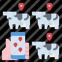 farm, fram, location, map, smart