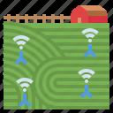 barn, crop, farm, field, network, smart
