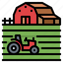 barn, country, farm, field, smart, tractor