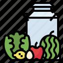 apple, egg, farm, produce, smart, watermelon