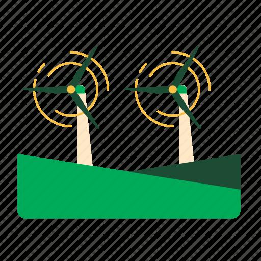 alternative, eco, renewable, sustainability, turbine, wind energy, windmill icon