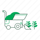 agricultural, agriculture, cultivated, farm, farming, harvest, harvester icon
