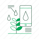 agriculture, control, iot, moisture, plants, smart farm, smartphone icon