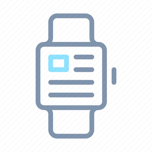 clock, device, gadget, smart, technology, time, watch icon