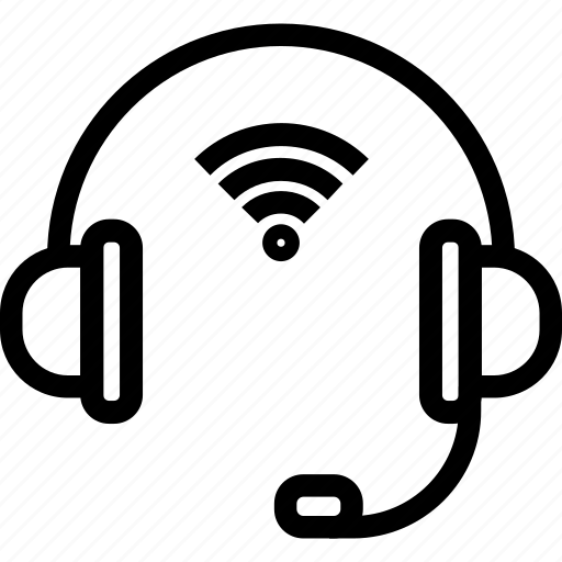 devices, gadgets, headphones, smart icon