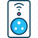 home automation, internet of things, smart, smart plug, technology icon