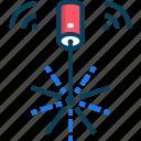 laser, light, pointer, technology icon