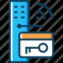 access, door key, key card, pass, password icon