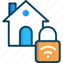 home, home security, lock, padlock, security icon