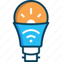 bulb, lamp, light bulb, smart, smart bulb icon