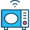 cook, cooking, kitchenware, microwave oven, wireless icon