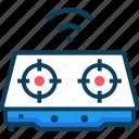 gas, kitchen, kitchenware, stove, wireless icon