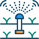 gardening, irrigation, smart, smart farm, sprinkler icon