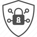 lock, padlock, protection, security system, shield icon