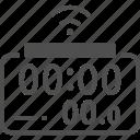 alarm clock, digital clock, internet of things, smart clock icon