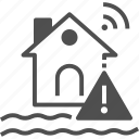 flood, house, natural disaster, rain icon