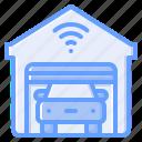 garage, car, transportation, vehicle