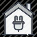 smart, home, house, electricity, supply, plug
