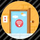door sensor, smart door, wireless door, iot, internet of thing