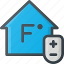 adjust, home, smart, temperature icon