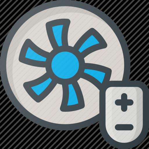control, fan, home, smart icon