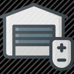 control, door, garage, home, smart icon