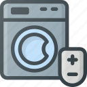 control, home, machine, smart, washing icon