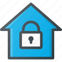 home, lock, smart icon