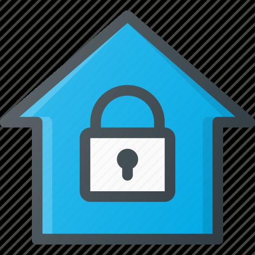 home, lock, smart icon