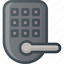 door, home, lock, smart icon