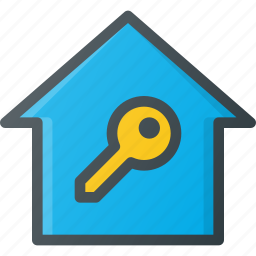 home, smart, unlock icon