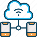 cloud, cloud computing, data storage, network, wifi icon