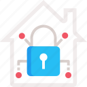 home automation, home security, padlock icon