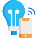 signal, smart bulb, smart light, wifi icon