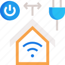 home automation, smart control, smart home icon
