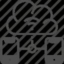 cloud, cloud computing, data storage, network, wifi icon