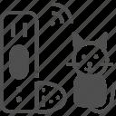 feeder, pet feeder, pet food icon