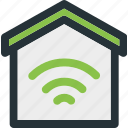 building, home, house, network, smart, wifi, wireless icon